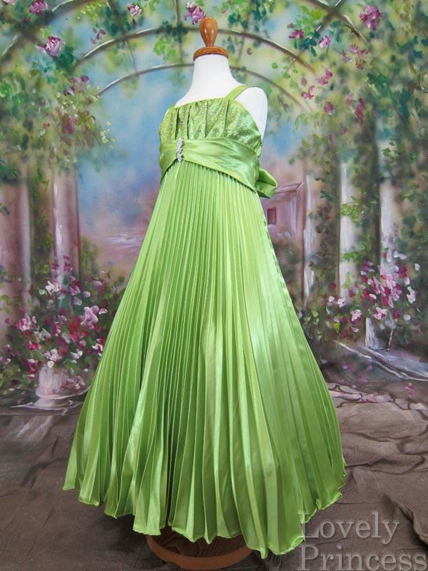 子供ドレス シモーヌ ライム
