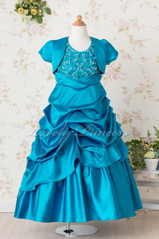 フルートボレロ付き子供ドレス ソフィア ティール