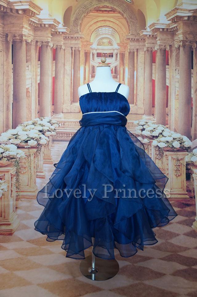 子どもドレス アンジェ ネイビー
