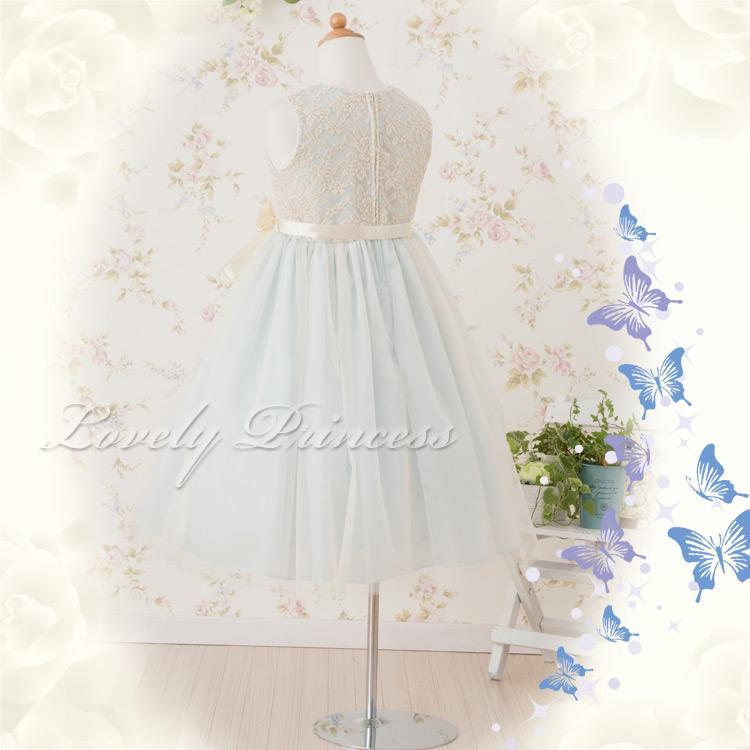 可愛い子供ドレス カーラ ブルー