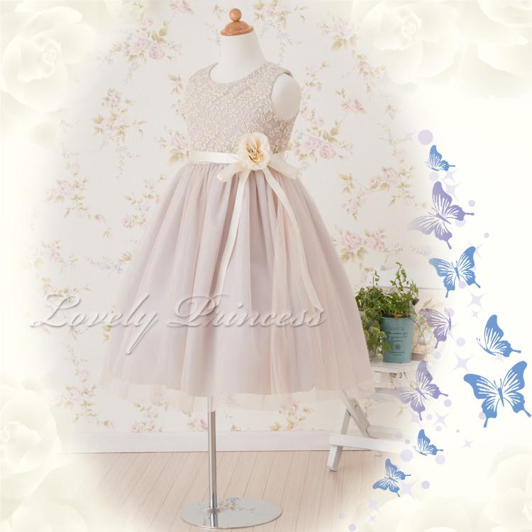 結婚式子供ドレス カーラ グレー