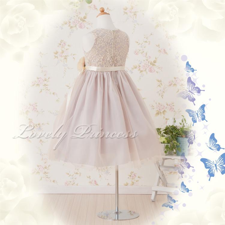 可愛い子供ドレス カーラ グレー