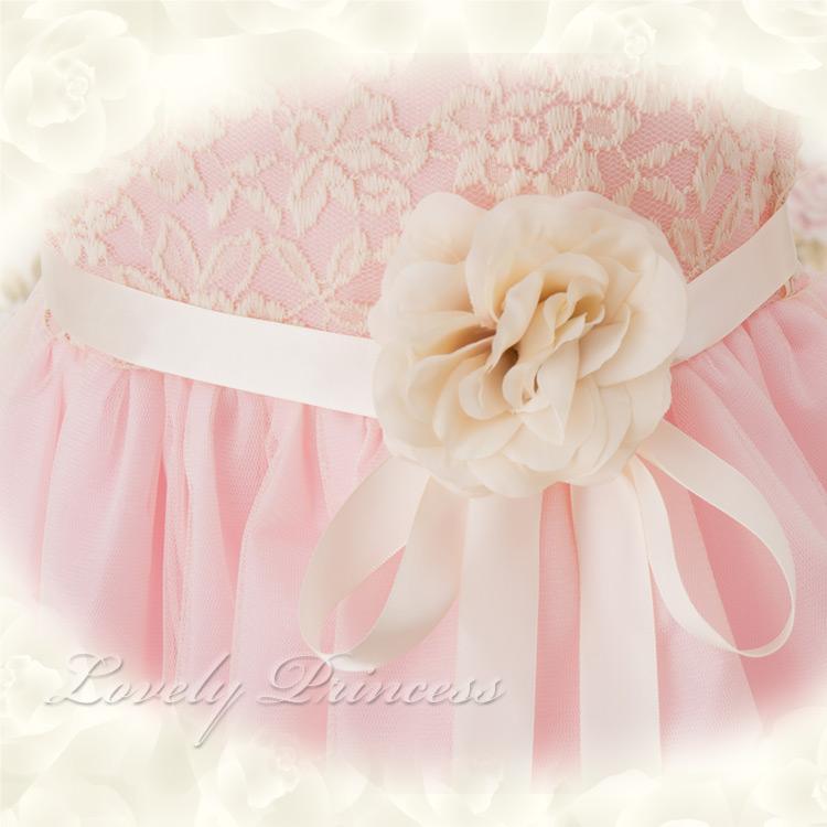 刺繡入り子供ドレス カーラ ピンク