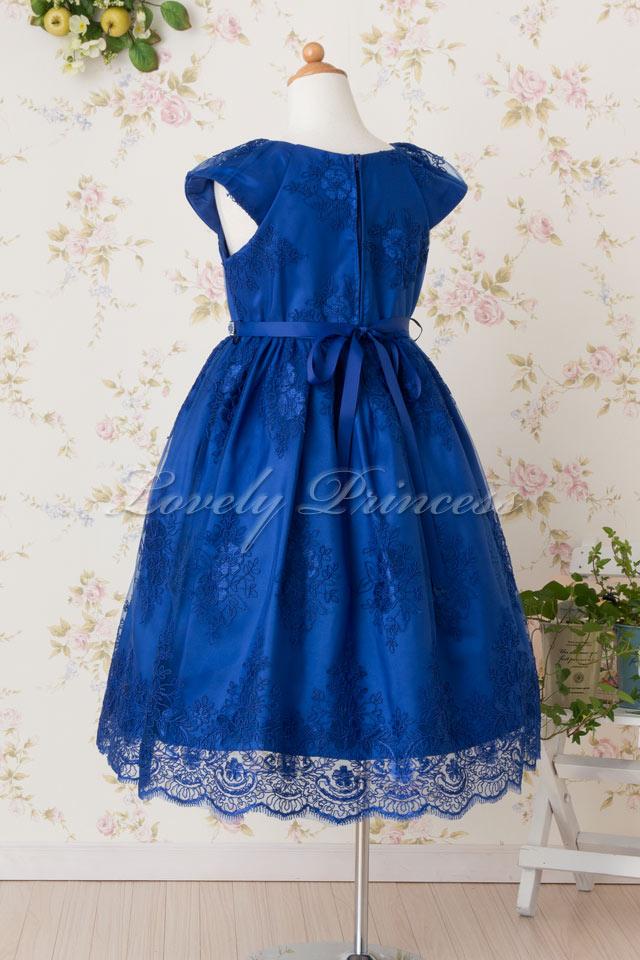 結婚式子供用ドレス エミリー ロイヤルブルー