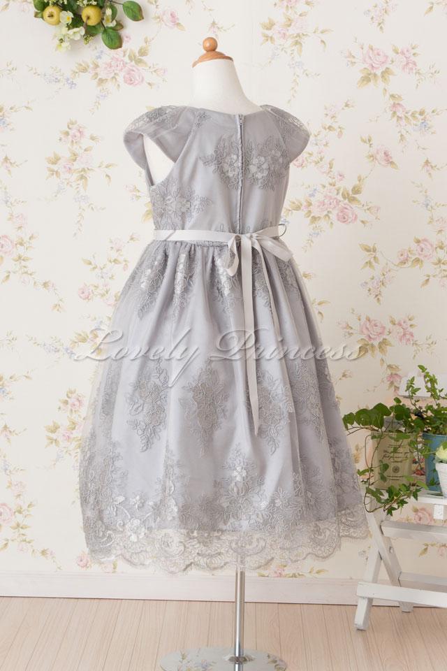 結婚式子供用ドレス エミリー シルバー