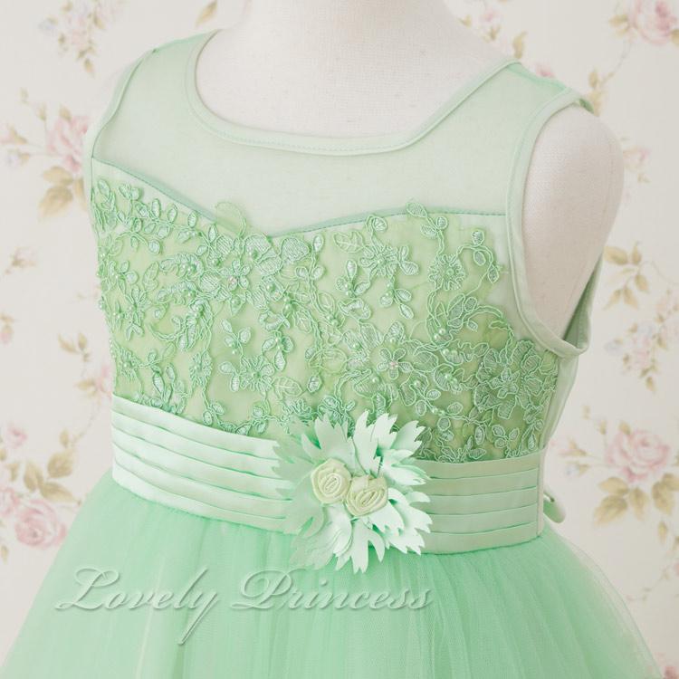 結婚式子供ドレス クレール ライム