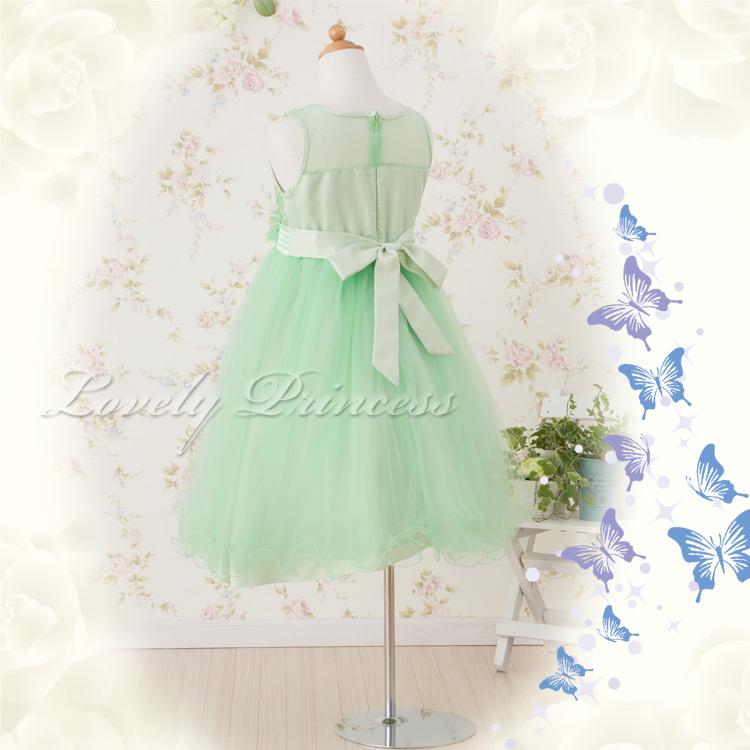子供ドレス結婚式 クレール ライム
