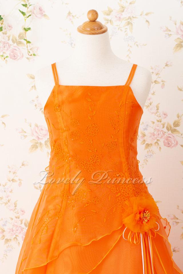 オレンジ子供ドレス リンダ オレンジ