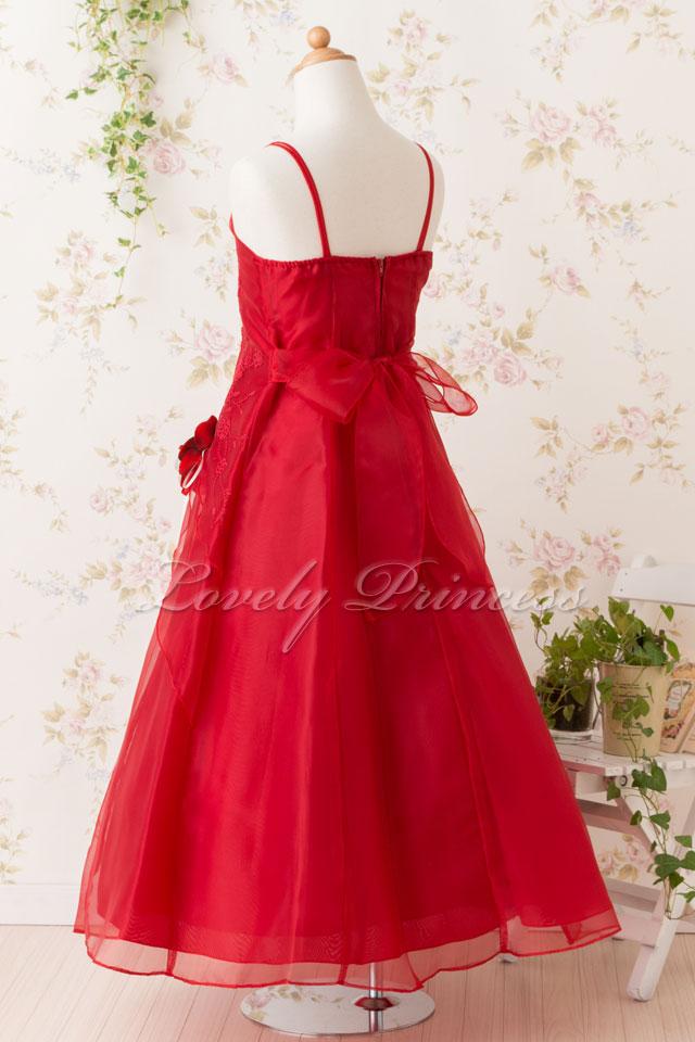 子供のドレス リンダ レッド