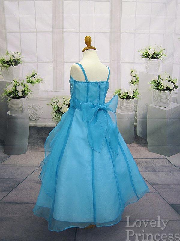コンクール子供ドレス マドレーヌ アクアブルー
