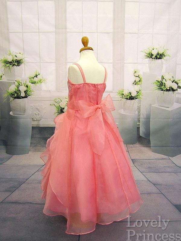 コンクール子供ドレス マドレーヌ コーラル