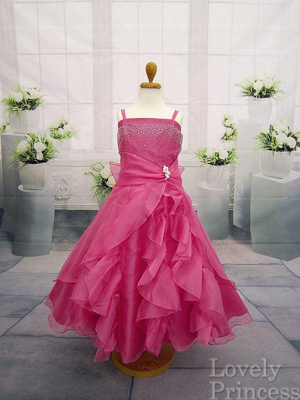 子どもドレス/ジュニアドレス マドレーヌ フューシャ