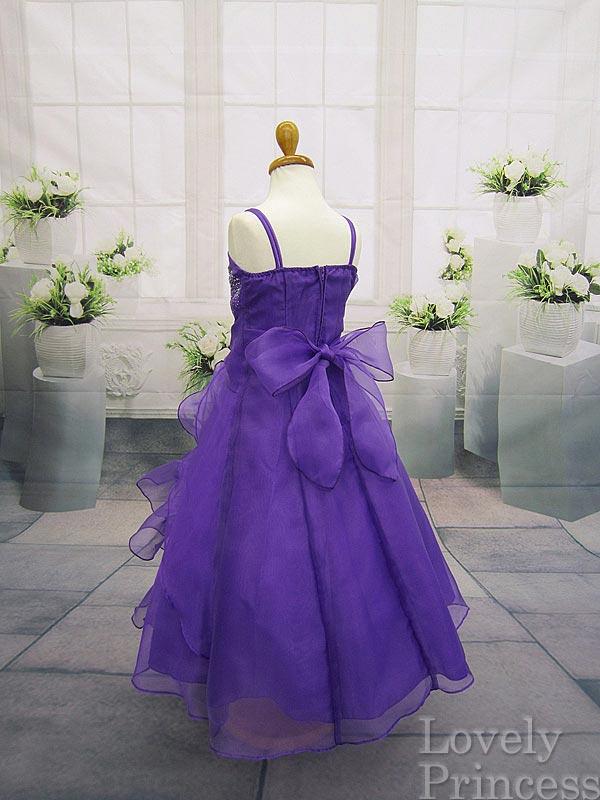 結婚式子供ドレス マドレーヌ パープル