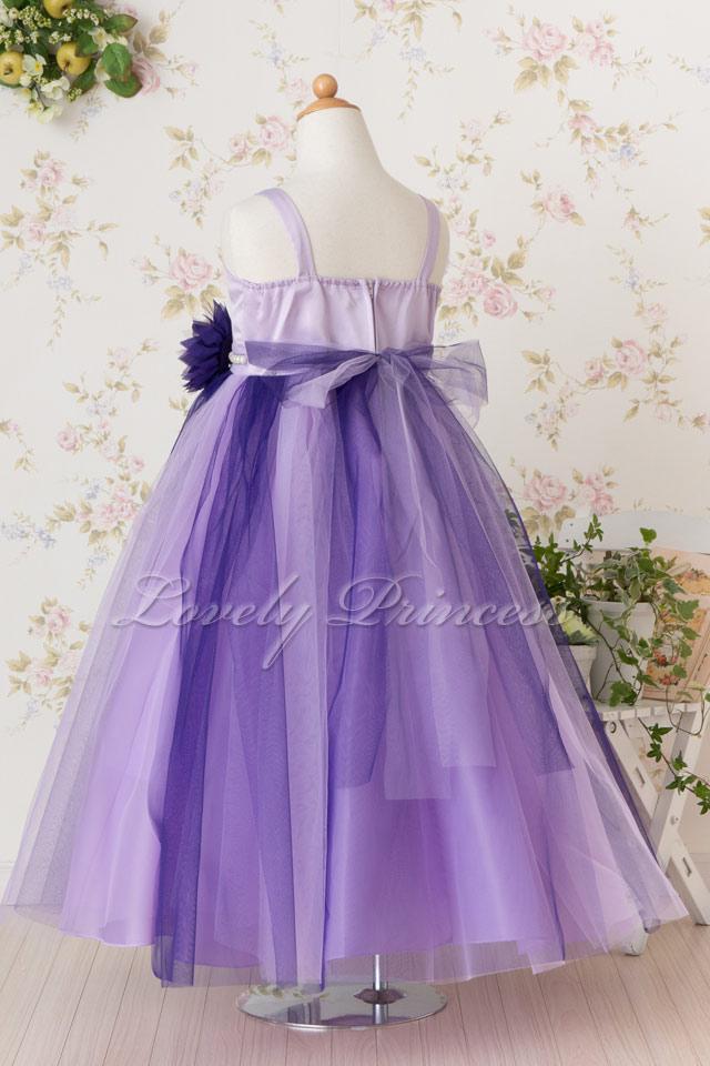 オリジナルの子供ドレス ディアヌ パープル ライラック