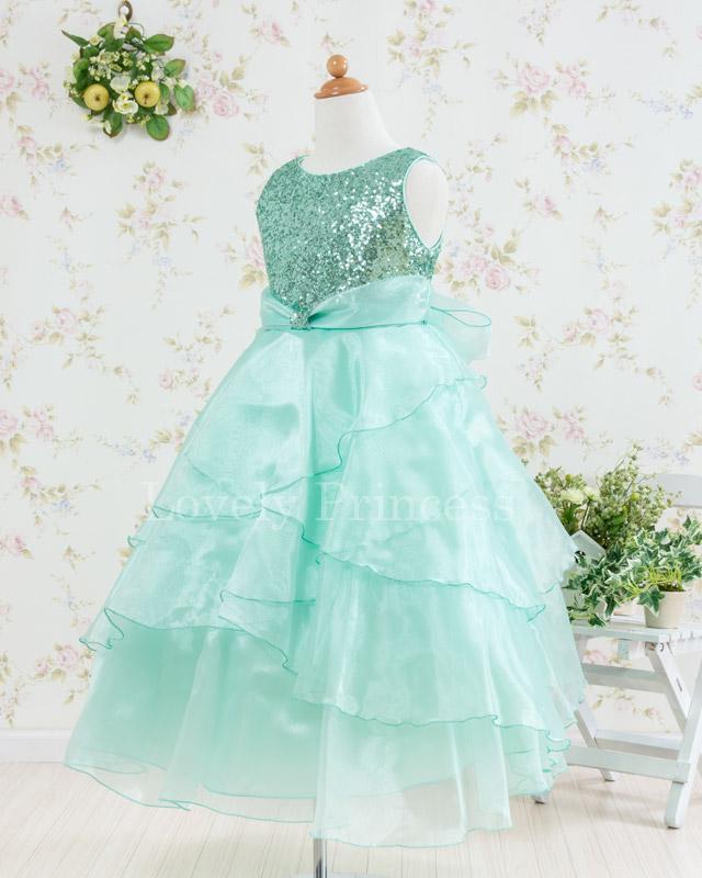 子供ドレス・ジュニアドレス アシュレイ ミント