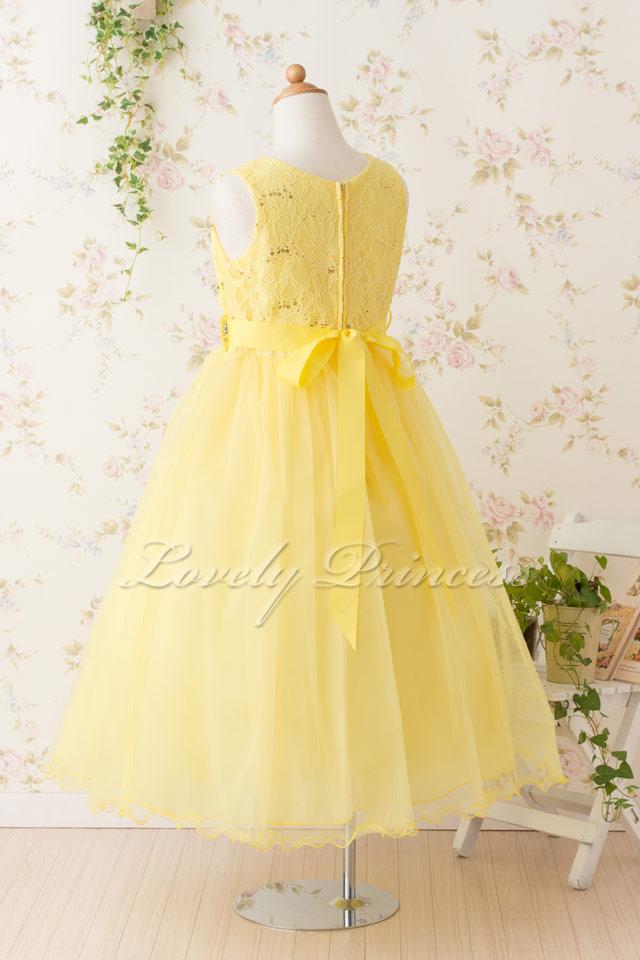 結婚式子供ドレス サフラン イエロー