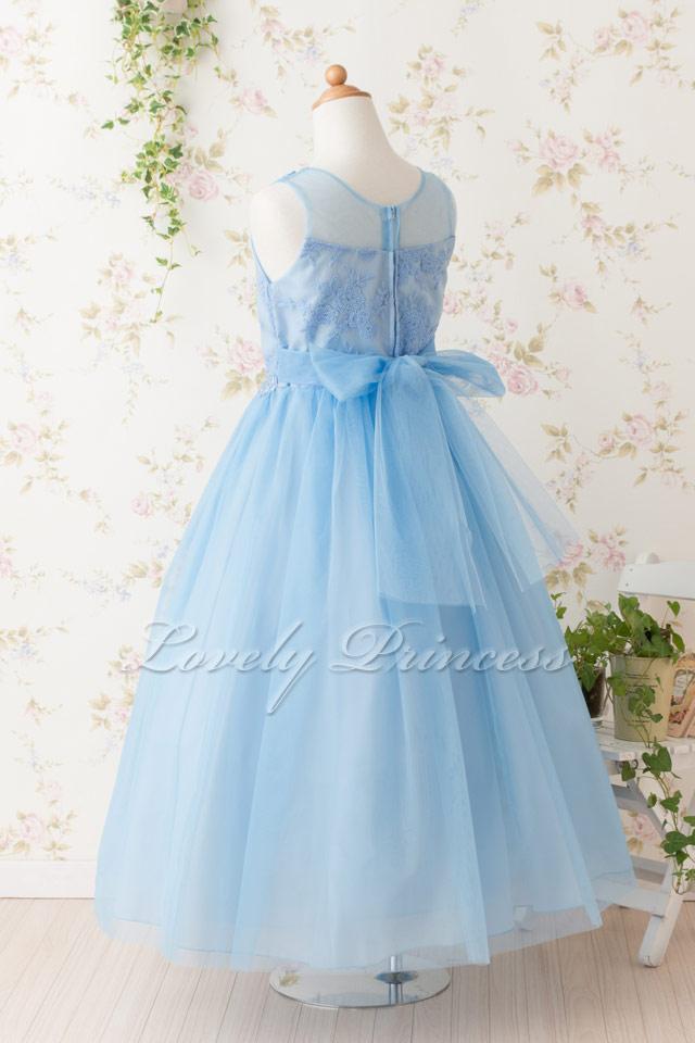 結婚式子供ドレス アシュリー ブルー