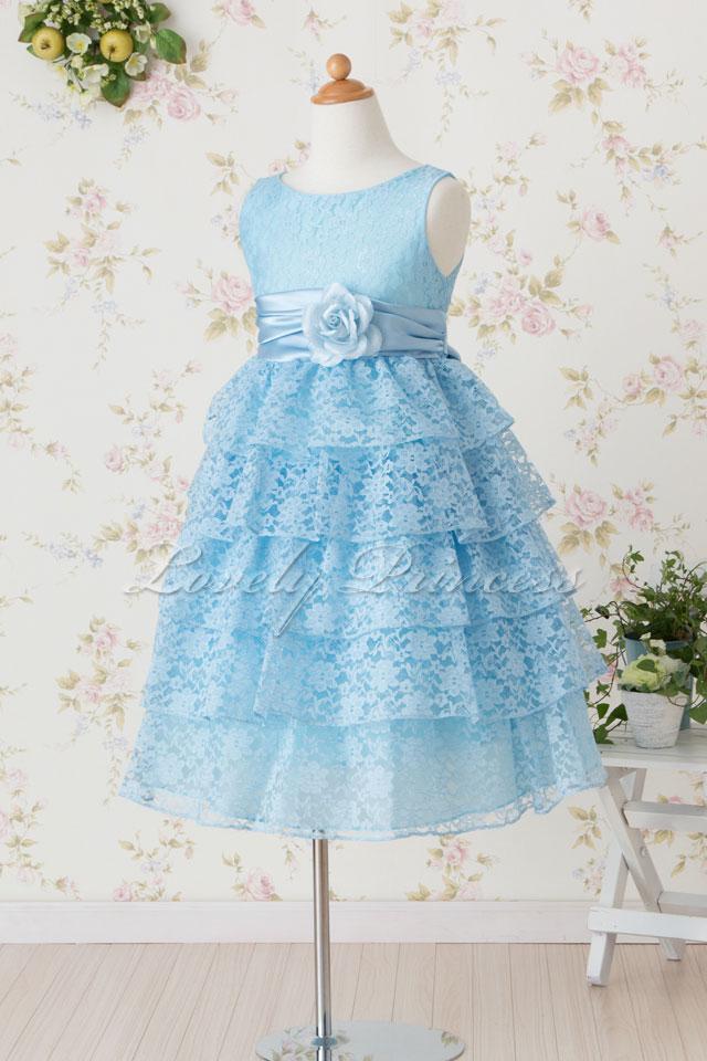 コンクール子供ドレス ジェマ ブルー