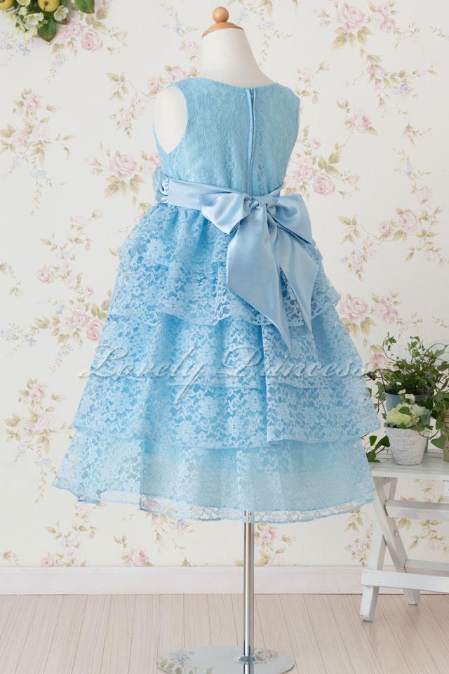 結婚式子供ドレス ジェマ ブルー