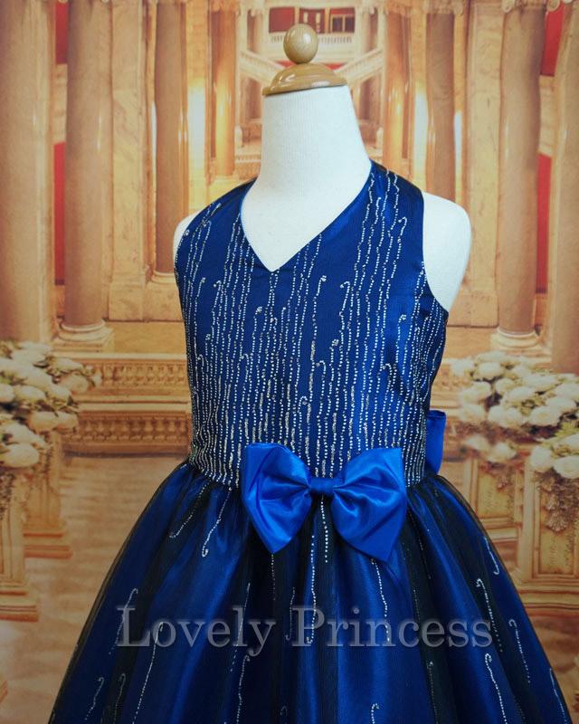 ステージ衣装子供ドレス シルヴィ ロイヤルブルー